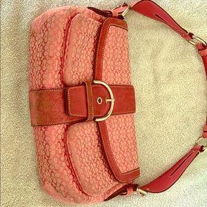 Coach shoulder satchel handbag